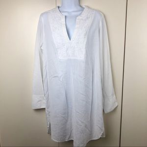 H&M Women's Tunic Shirt Long Sleeve Embroidered